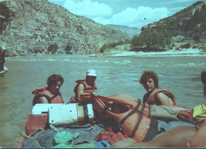 White water rafting on the Green River, Colorado