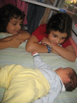 Rotem and Nitzan with brother